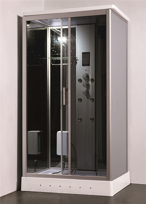 Residential Steam Shower Bath Cabin Multi Jet Shower Enclosures With FM Radio Function