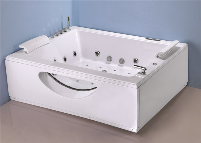 Big Jacuzzi Whirlpool Bath Tub T Shape Water Inlet With Cold / Hot Water Switch