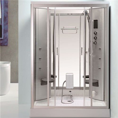 Back Massage Jets Jacuzzi Shower Enclosures , Shower Steam Room Combo With Fold Up Seat